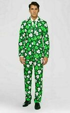 Suitmeister St. Patricks Day Jacket Only Green Clover Size Large