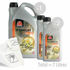 Car Engine Oil Service Kit / Pack 7 LITRES Millers XF Longlife C4 5w-30 7L