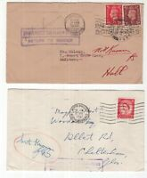 Great Britain 2 x KGV1 and QE11 RTS covers