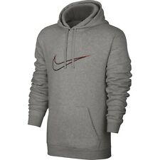 Men's New Nike Logo Fleece Hoodie Hoody Hooded Sweatshirt Jumper Pullover Jacket