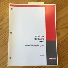 Case International IH TECH-COM NEF ENGINE 4.5 & 6.8L (4&6 CYL) GUIDE MANUAL BOOK