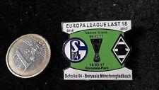 Match Pin S04 Schalke 04 Borussia Mönchengladbach Euroleague grün weiss 16/17