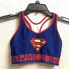 Under Armour Sports Bra Small Girls Juniors Superman Super Hero Youth Small F