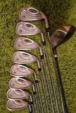 Orange Performance Golf iS Irons & 3 Wood Golf Clubs