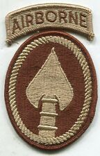 US ARMY SPECIAL OPERATIONS COMMAND AIRBORNE DCU Desert Tan Patch
