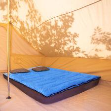 Outsunny 4-Season Double Sleeping Bag Camping Envelope Bag Mattress Outdoor Blue