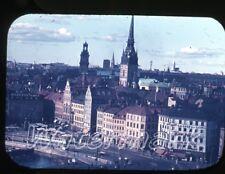 1950s  35mm photo slide  Stockholm Sweden #11 tram trolley