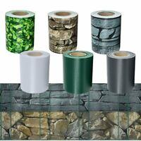 PVC Sichtschutz Streifen Folie Zaunblende Zaunfolie Doppelstabmatten Terrasse