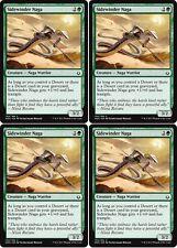 4x SIDEWINDER NAGA Hour of Devastation MTG Green Creature — Naga Warrior Com