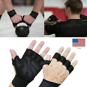 Half Finger Work Out Gym Gloves Weight Lifting Exercise Fitness    USA SELLER !!