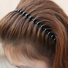 Sports Biker Unisex Lady Metal Black Wave Hair Band Headband Hairband Hot L1Y