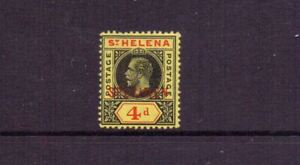 ST HELENA 1913 GV 4d SPECIMEN SG85s MH
