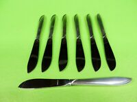 "Set Of Seven Sterling Silver Rhythm by International Butter Spreader 6 1/4""."