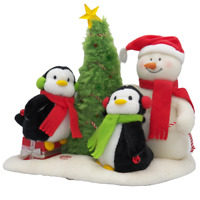 2006 Hallmark Jingle Pals Very Merry Trio Singing Snowman and Penguins SEE VIDEO