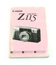186851 Instruction Manual for Canon Z115 Sure Shot Camera
