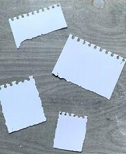 Stanzschablone/ Cutting dies vintage Notizblock, Papier bis 5,3 x7,5 cm, 4 tlg.