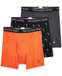 New Polo Ralph Lauren Men's 3-Pack Boxer Briefs Choose Size MSRP $42.50