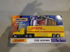 B2=MATCHBOX Convoy DHL Semi 18 Wheel Tractor Trailer  FORD AEROMAX Truck New