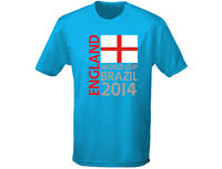 England World Cup Brazil 2014 Mens Football Rugby T-Shirt (12 Colours)