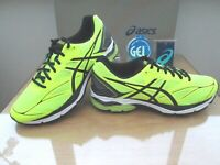 ASICS GEL-PULSE 8 MENS NEON YEL BLACK COURSE RUNNING TRAINERS SIZE UK 7 EU 41.5
