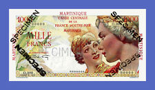 "MARTINIQUE - 1000 FRANCS ""SPECIMEN"" 1947s - Reproductions"