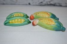 Vintage Ceramic Peas In A Pod and Corn On The Cob Salt and Pepper Shakers Japan