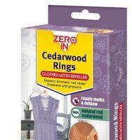 20 x Zero In Cedarwood Clothes Cedar Moth Repeller Killer Rings - 2 Pack 10