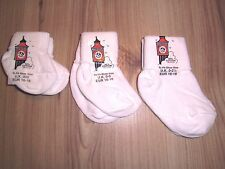 NEWBORN BABY WHITE BLUE PINK SOCKS PREMATURE 000 00 0-0 TODDLERS 0-2 1/2 DOLL