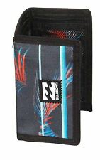 Billabong Cartera Triple con tarjeta de crédito, Nota y bolsillos monedas ~ Atom Raya