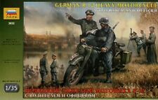 Zvezda 1/35 BMW R12 Motorcycle w/ rider and officer # 3632