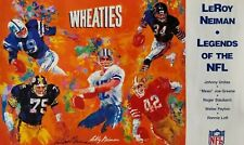 Wheaties Legends of the NFL Lithograph Hand Signed by LeRoy Neiman