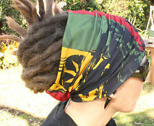Bob Marley Rasta dreadlock Headband/dread sock/wrap - Lightweight, soft