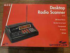 Whistler Desktop Radio Police Scanner Ws1025 200-Channel Fm Radio Emergency Svcs