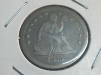 1876-S LIBERTY SEATED QUARTER NO RESERVE