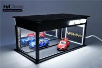 MC Hobby 1:64 Garage Acrylic Led Lighting Diorama Model Car Showrooms RWB