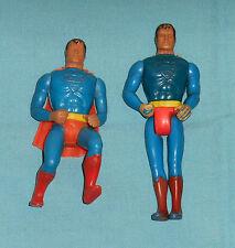 vintage Mego COMIC ACTION HEROES & POCKET SUPERHEROES SUPERMAN LOT x2