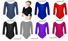 Girls Gymnastics Leotard Ages (2-18) Stretchy Dance Sports Sleeve Top Uniform UK