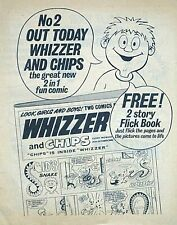 WHIZZER & CHIPS #2 ISSUE 2 (1969) FLYER - VERY SCARCE !! From Valiant VGC..beano