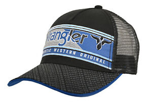 Mens Duke Trucker Cap, Black,Wrangler