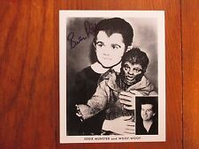 "BUTCH  PATRICK(with ""Woof-Woof""-""The Munsters"")Signed Black & White 8 X 10 PHOTO"