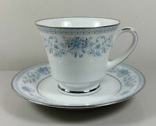NORITAKE BLUE HILL 2482 TEA CUP AND SAUCER (PERFECT)