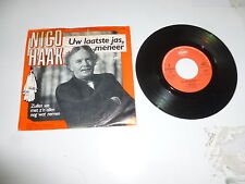 "NICO HAAK - Uw Laatste Jas Meneer - 1985 Dutch 7"" Juke Box Vinyl Single"