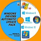 WINDOWS DRIVER UPDATES PACK DVD XP VISTA 7 8 &10 INSTALL/UPDATE/REPAIR PC/LAPTOP