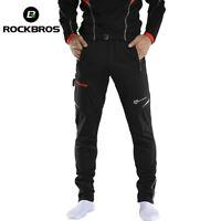RockBros Men's Thermal Fleece Winter Cycling Sportswear Reflective Trousers UK