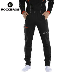 RockBros Men's Thermal Fleece Winter Cycling Sportswear Reflective Trousers UK