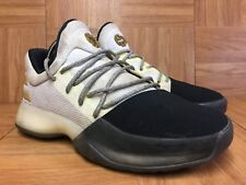 635116158439 RARE🔥 Adidas James Harden Volume 1 Boost White Black Gold Sz 4.5Y BY3481  Boys