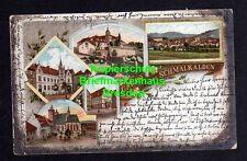 114754 AK Schmalkalden Litho 1903 Lutherhaus Postamt Stadt Kirche