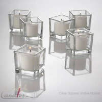 Eastland Votive Candle Holders Square Glass Set of 12, Home & Event Decor