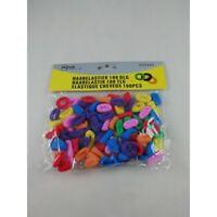 2X Paquet de 100 Chouchou élastiques Attache Cheveux Multicolores Enfant Fille
