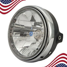 Cafe Racer Bobber Chrome Motorcycle Headlight For Yamaha V-Star XVS 650 1100 250